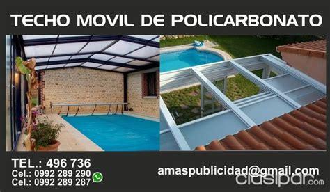 techos corredizos para patios techos de policarbonato techos moviles techos