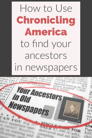 How To Search Newspapers For Ancestors Create Your Family Tree And Preserve Your Family How To Use Chronicling America To Find Your Ancestors Hometown Newspapers Genealogy Gems