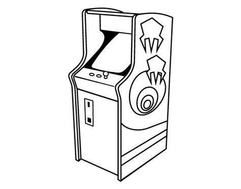 imagenes de niños jugando maquinitas dibujo de arcade para colorear dibujos net