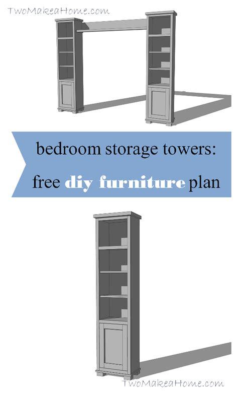 bedroom storage towers bedroom storage towers diy furniture plan two make a home