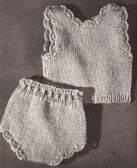 antique knitting 18 in vintage knitted doll vest clothes pattern