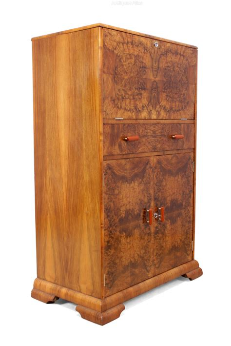 art deco drinks cabinet art deco cocktail cabinet in walnut c1930 antiques atlas