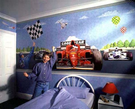 race car bedroom ideas race car mural for kids room decor