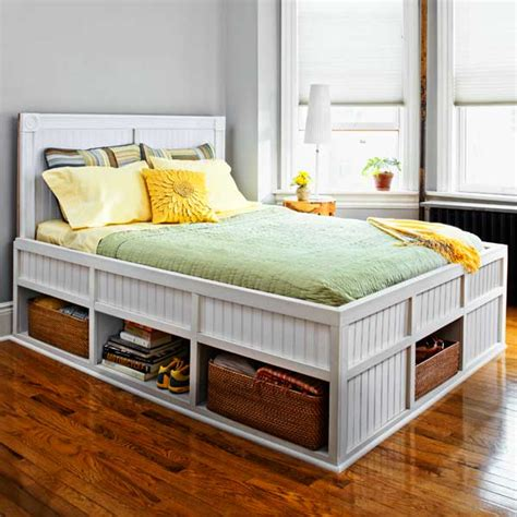 storage bed 27 ways to build your own bedroom furniture this old house