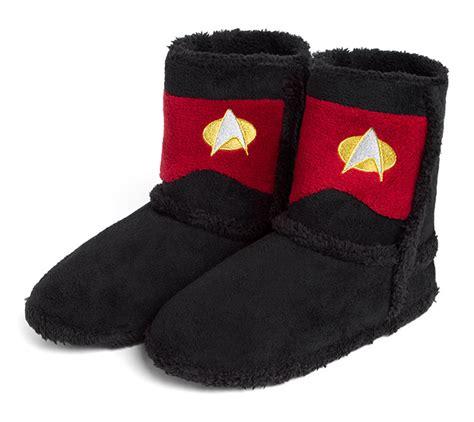 trek slippers trek tng boot slippers