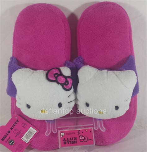 hello kitty house shoes hello kitty plush women s house shoes slippers pink choice of sizes new