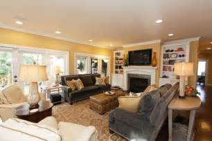 Grey and gold living room remodel and new furnishings contemporary