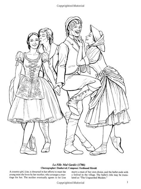 fashion coloring book favorite ballets coloring book dover fashion coloring
