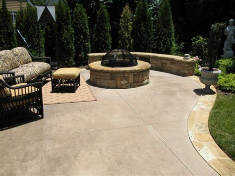 Poured Concrete Patio Ideas Residential Landscaping Traditional Patio Atlanta