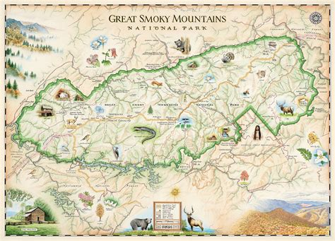 great smoky mountains national park map great smoky mountains national park xplorer maps jigsaw puzzle puzzlewarehouse