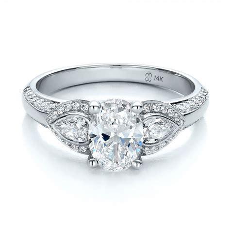 custom three engagement ring 100279