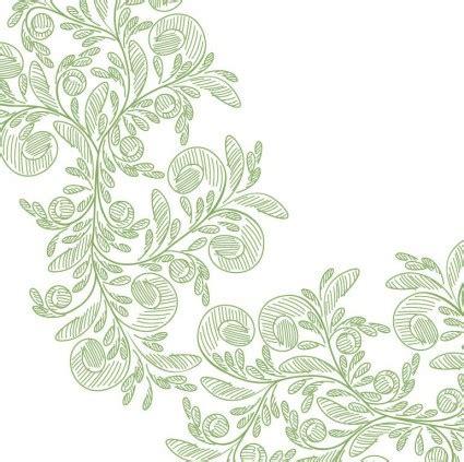 design bunga abstrak abstrak bunga dengan pensil hijau vektor grafis vektor