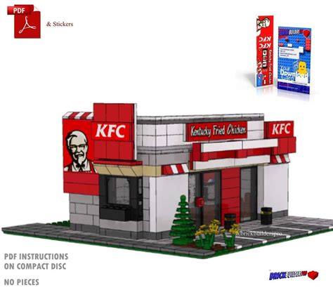 Who Sells Kfc Gift Cards - stickers lego custom kfc chicken instructions city town fast food restaurant ebay
