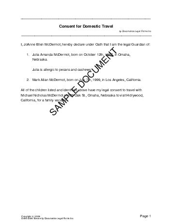 Parental Consent Letter Air Canada child travel consent mexico templates