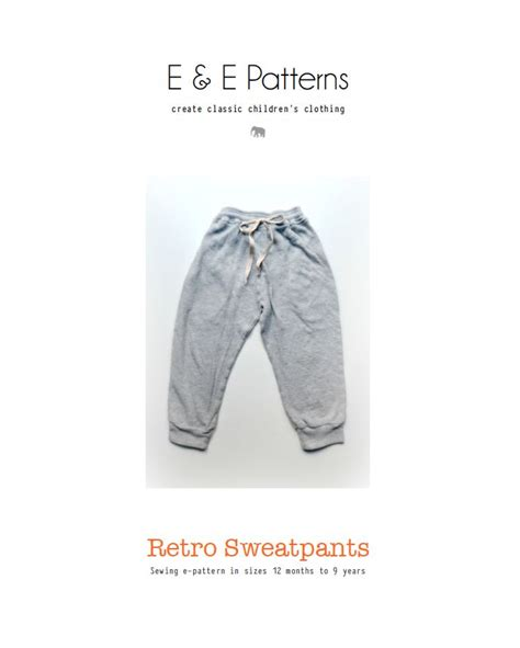 joggers pants pattern elegance elephants free retro sweatpants pdf pattern