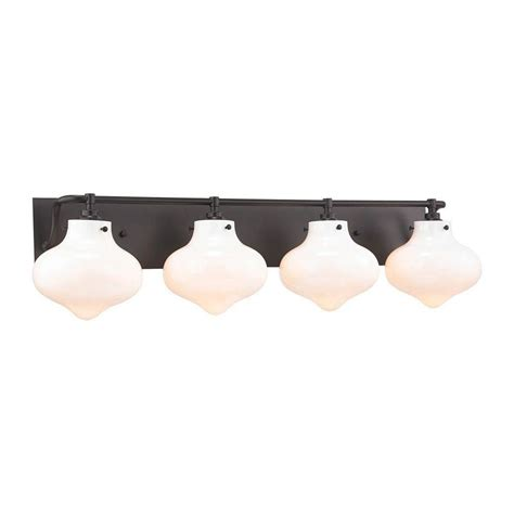 4 light vanity light bronze kelsey 4 light rubbed bronze led vanity light tn 75414