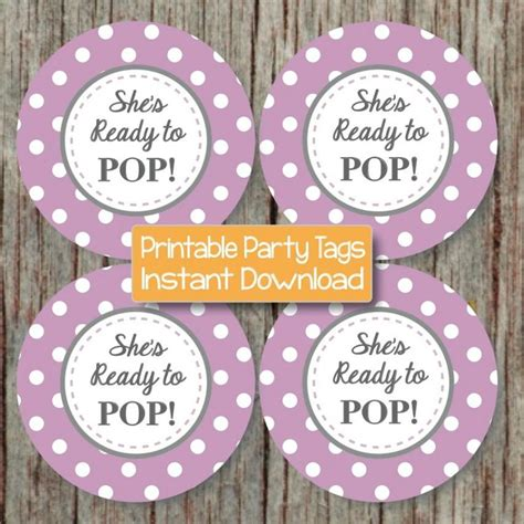 printable stickers for baby shower she s ready to pop printable stickers by