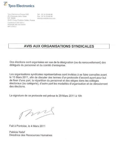 Exemple De Lettre D Invitation Des Syndicats modele invitation des syndicats a negocier le protocole