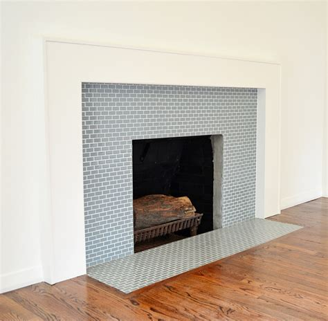 tiled fireplace surround mini glass tile fireplace surround subway tile outlet