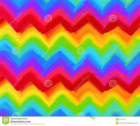 zig zag pattern painting oil painting vector rainbow zigzag pattern stock image