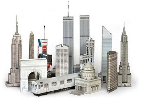 City Papercraft - build your own new york city papercrafts paperkraft net