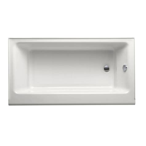 cast iron drop in bathtub shop kohler highbridge white cast iron rectangular drop in