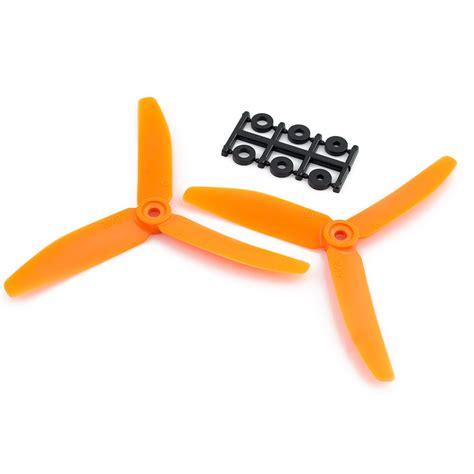 Propeller Hqprop 3 Blade 5x46x3b 1 Cw 1 Ccw hqprop 5x4x3 cw propeller 3 blade orange 2 pack