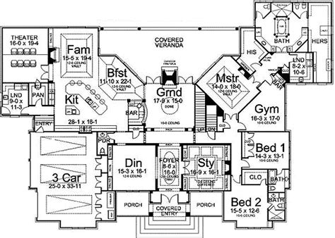 la fitness floor plan master suite with private gym 12247jl 1st floor master