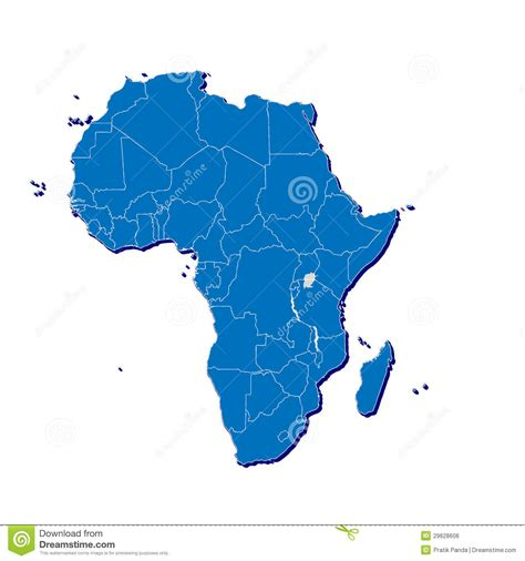 africa map 3d africa map in 3d royalty free stock image image 29628606