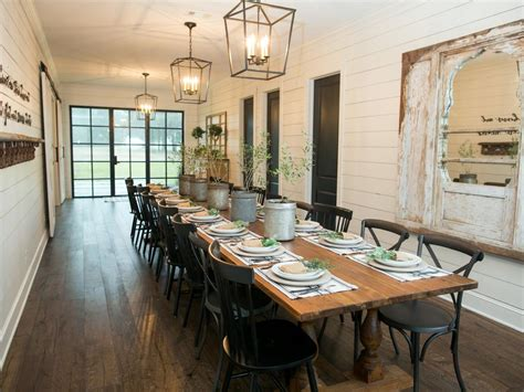 Dining Room Tables Hgtv Chip And Joanna Gaines Transform A Barn Into A Rustic Home