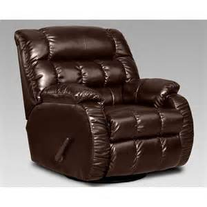 chelsea home payton leather swivel rocker recliner taos