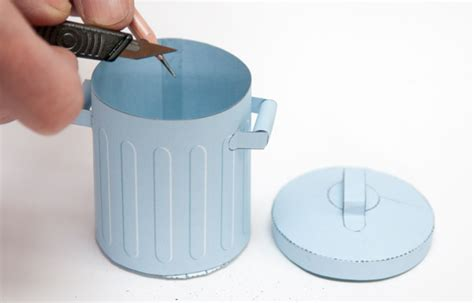How To Make Paper Trash Can - trash can rubbish model to and make www