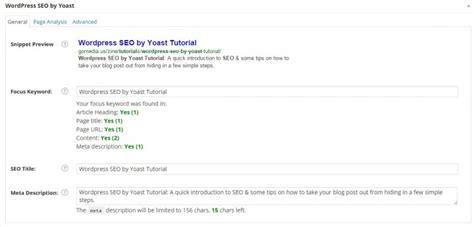 tutorial wordpress seo by yoast wordpress seo by yoast tutorial