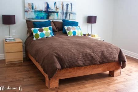 West Elm Chunky Wood Bed Frame My Chunky Build Do It Yourself Home Projects From
