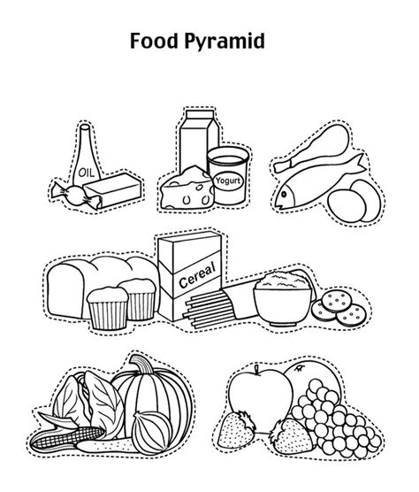 coloring pages of a food chain food pyramid coloring pages food pyramid with fruit and