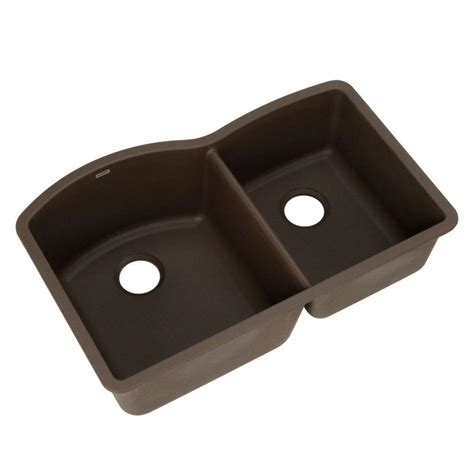 Undermount Composite Granite Kitchen Sinks Blanco Undermount Granite Composite 32 In 0 1 3 4 Bowl Kitchen Sink In Cafe Brown