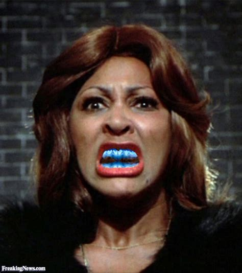 with blue tina turner with blue teeth pictures freaking news