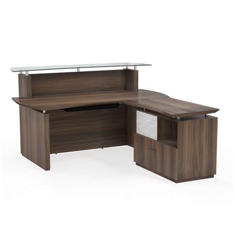 New Reception Desk Mayline Sterling Reception Desk With Return And Peds 3 Colors New Office Resource