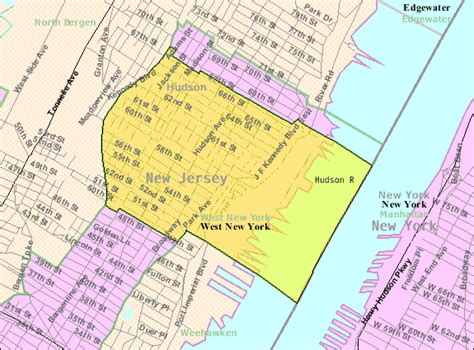 map of new jersey and new york file census bureau map of west new york new jersey png