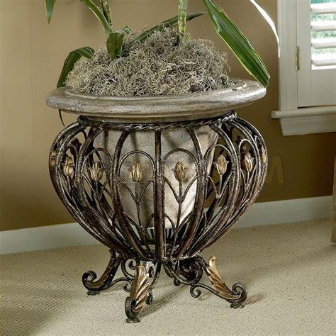 Planter Stands Wrought Iron by Unique And Beautiful Wrought Iron Plant Stands Outdoor