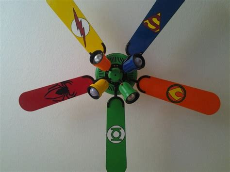 ceiling fan for boys bedroom superhero fan super hero room decor ideas