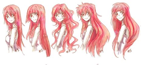 manga hairstyle short long front sides anime long hair references by nyuhatter on deviantart