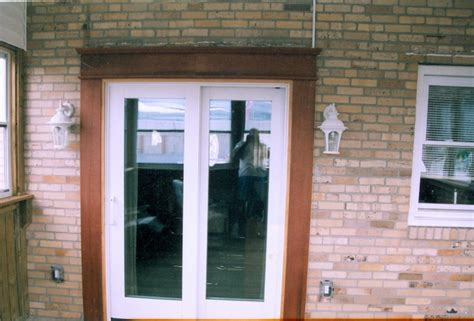 Patio Door Trim Pella Sliding Door With Honduras Mahogany Trim Bridesburg Pa From Absolute Home Remodeling