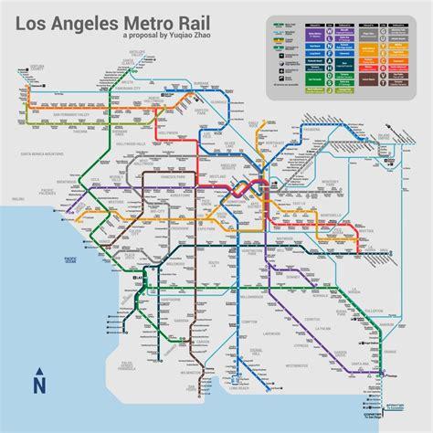 Metro Light Rail Schedule by Los Angeles Metro Map Imaginarymaps