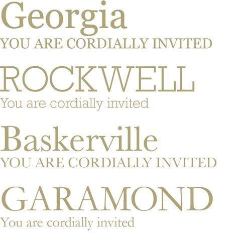 Wedding Font Serif the right fonts for your wedding the wedding notebook