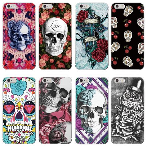 pattern html telephone rockabilly pink rose skull pattern soft tpu clear phone