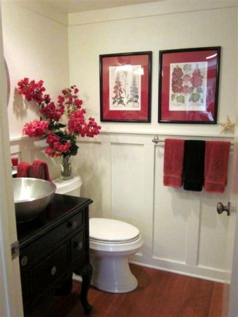 freshen   powder room red bathroom decor bathroom