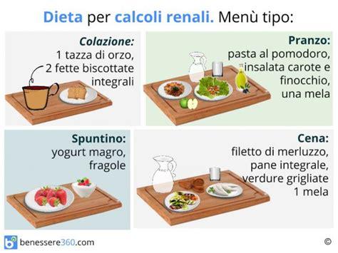 ossalati di calcio alimenti da evitare dieta per calcoli renali cosa mangiare alimentazione