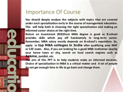 How To Choose The Right Mba Specialisation by How To Choose An Mba Specialization