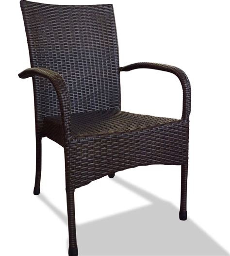 Rattan Patio Chair Black Resin Wicker Rocking Chair International Caravan